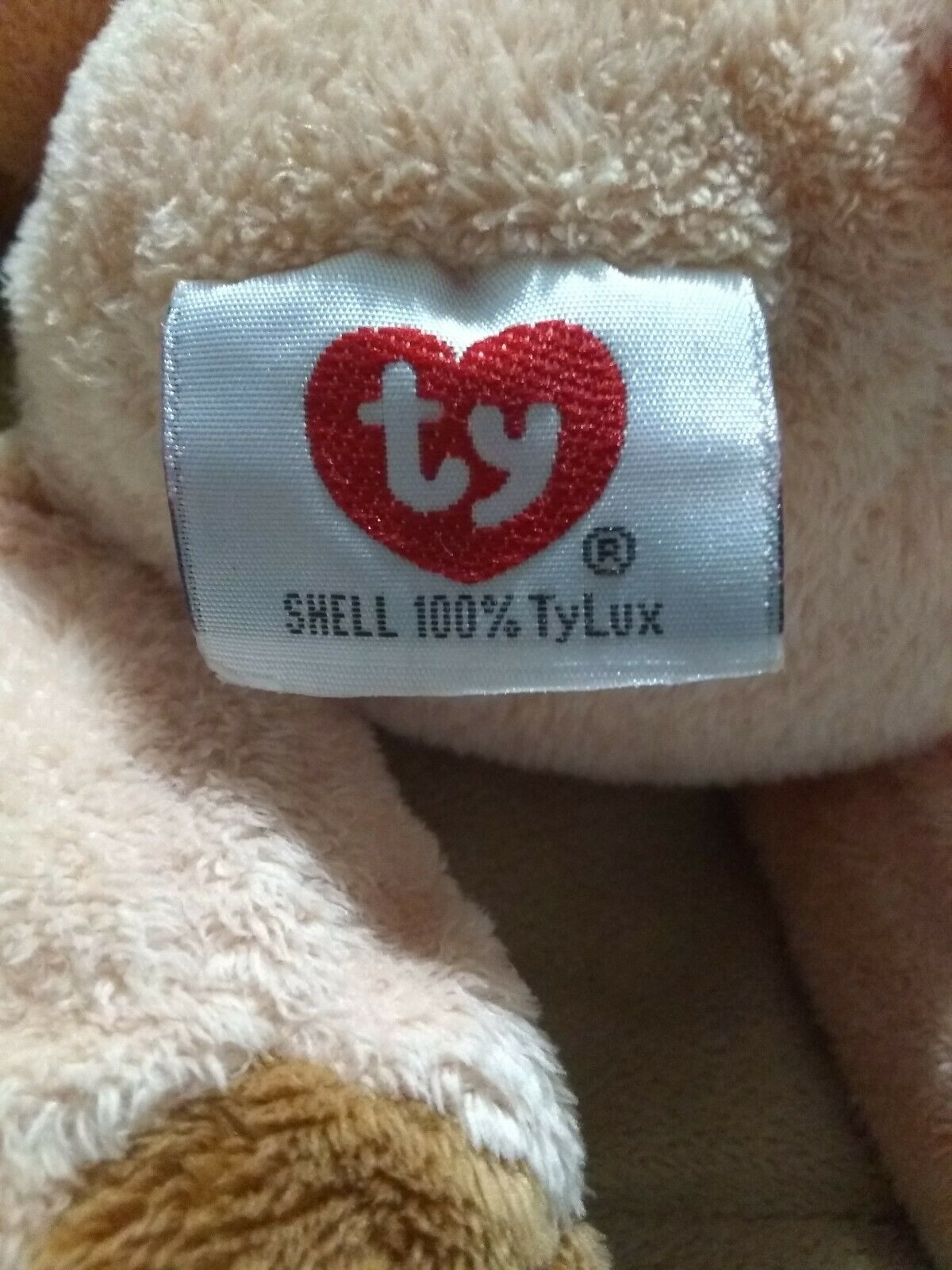 "TY Pluffies CORKSCREW the peach PIG HOG Beanbag Plush 10"" 2002 100% TyLux"