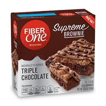 Fiber One  Supreme Brownie Triple Chocolate, 5 Count Pack of 8