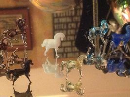 Micro miniature small hand blown glass standing horse in color choice image 5