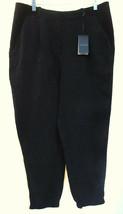 ANN TAYLOR Black Tencel Career Dress Pants Silky Twill Elastic Bottom Cu... - $27.43