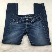 American Eagle Women's Stretch Skinny Dark Wash Jeans Size 00 Short - $16.39