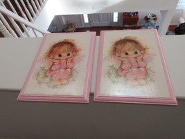Hallmark Cards , Springbok , Vintage Wood Plaque , Lot of 2 , Child With... - $29.61