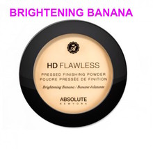 ABSOLUTE NEW YORK HD FLAWLESS PRESSED FINISH POWDER BRIGHTENING BANANA