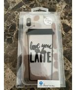 "New ONN iPhone XS Max Case ""Love you Latte"" Liquid Fashion Phone Case - $10.88"