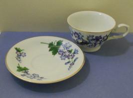 AVON PORCELAIN Larkspur Flower TEA CUP & SAUCER-July blossoms of Month S... - $4.95