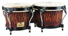 "Tycoon Bongo Drums/Supremo Series/ Series/Chisled Orange/ 7"" and 8.5"" Sh... - $100.99"