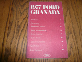 1977 Ford Granada Owner's Manual Vintage - Glove Box - $8.60