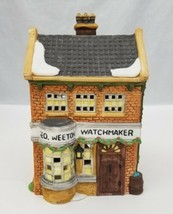 Dicken's Village Series Geo Weeton Watchmaker Christmas 1988 Dept 56 4.5... - $15.23