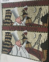 "Set of 2 Tapestry Kitchen Placemats, 13""x19"",FAT CHEF & LANDSCAPES, LOVE... - $12.86"