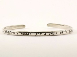 Vintage Engraved Mother Love Design Cuff Bracelet  925 Sterling Silver B... - $19.99