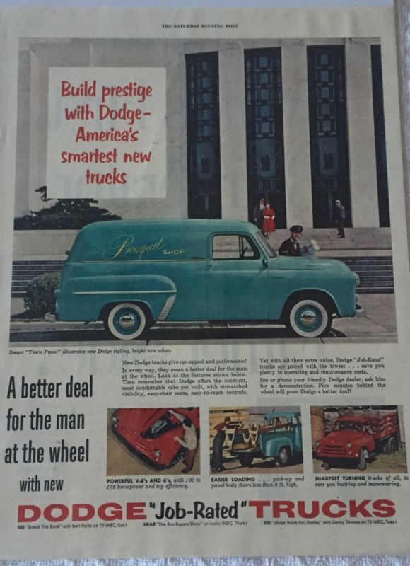 Primary image for Vintage 1954 Dodge Job Rated Trucks Magazine Advertisement Sealed!