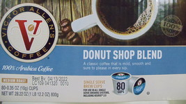 Coffee - Victor Allen's Donut Shop Blend 80 Count Single Serve Brew Cups- Medium - $23.00