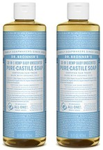Dr. Bronner's Pure-Castile Liquid Soap Shower and Travel Pack - Baby Uns... - $25.98