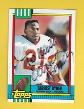 EARNEST BYNER AUTOGRAPHED CARD 1990 TOPPS WASHINGTON REDSKINS - $4.98