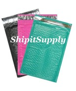 3-600 #000 4x8 ( Black Pink & Teal ) Color Poly Bubble Mailers Fast Ship... - $3.49+
