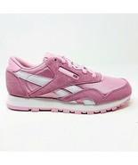 Reebok Classic Nylon Charming Pink White Junior Kids Size 2 BS8681 - $49.95