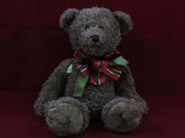 "Dan Dee Teddy Bear 16"" large cute chocolate brown w/ Christmas ribbon & ... - $19.95"