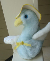 "Vintage Blue/White Plush Toy Musical Eden Goose 8"" Plays ""You are My Sun... - £22.56 GBP"