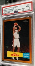 2007-08 Topps Chrome LeBron James Orange Refractor Var PSA 9 Mint #119/199 - $499.99