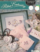 Bucilla Ribbon Embroidery Monograms & More in Pure Silk Pattern Booklet  - $9.89