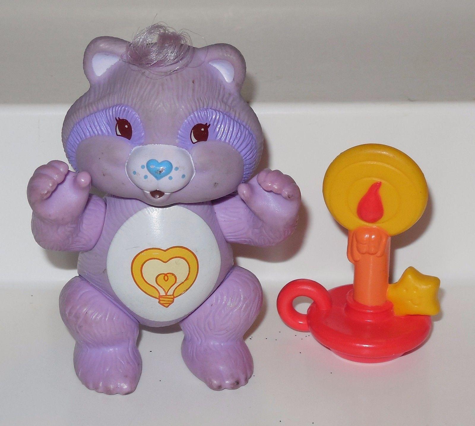 Bright Heart Raccoon Miniature Figurine Vintage Care Bears Cousin PVC Mini Figure