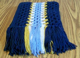 Handmade, Long Crochet Scarf With Fringe, Fashion Scarf, Accessories, Wi... - $45.00