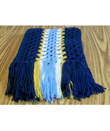 Handmade, Long Crochet Scarf With Fringe, Fashion Scarf, Accessories, Winter - $40.00