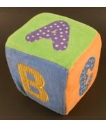 Infantino Alphabet Block Plush Sensory Textured Baby Toy A B C 1 2 3 - $6.85