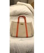 Louis Vuitton Large Antigua GM Cabas Bag Tan w/Red Trim - $750.00