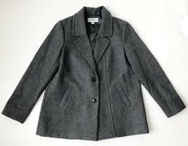 Pendleton Wool Peacoat Womens Large New NWOT Gray 100% Merino Wool - $37.39