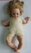 "Goldberger Eegee 25"" Girl Doll Vinyl & Cloth Rebuilder Bandaged Thigh Sleep Eyes - $14.56"