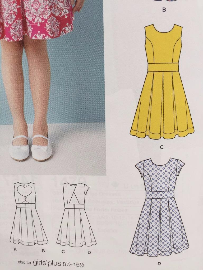edad2cfd9bc Simplicity Sewing Pattern 1382 Girls Child Dress Back Variations Size 8-16  New. Next. 1  2
