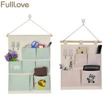 FULLLOVE® Cartoon Canvas Wall Hanging Storage Bag Cosmetic Bag - $11.69+
