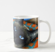 Coffee Mug Cup 11oz or 15oz Made in USA Cat 634 siamese art painting L.D... - €17,80 EUR+