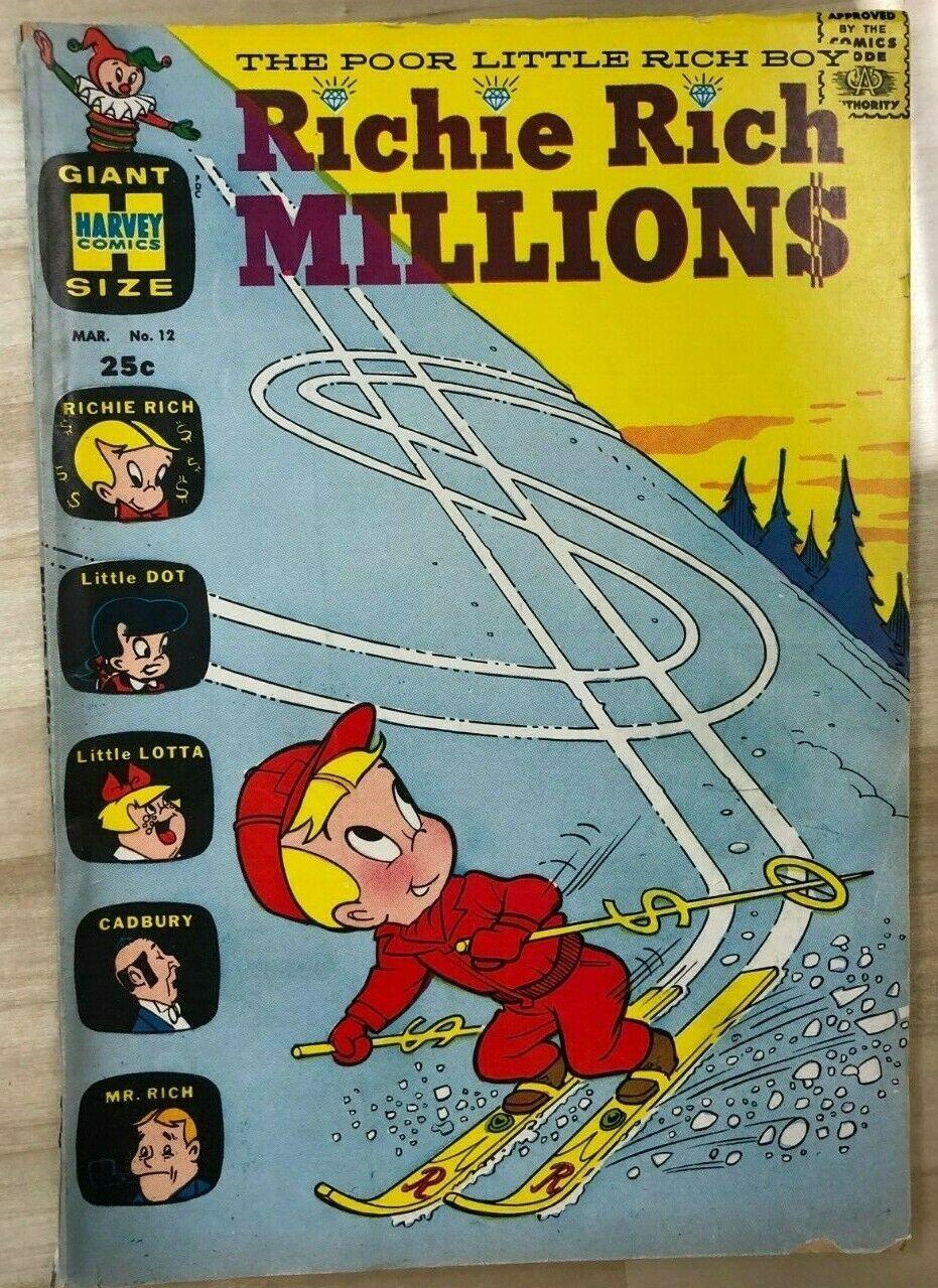 RICHIE RICH MILLIONS #12 (1965) Harvey Giant Size Comics VG+