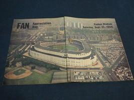 NY NEW YORK YANKEE FAN APPRECIATION DAY SEPEMBER 21 1968 HANDOUT MANTLE ... - $9.99