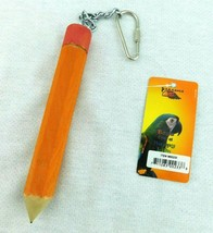 """Paradise Bird Toy Pencil Wood Chew Hang Chain Link M-L 11.5"""" - £5.31 GBP"""