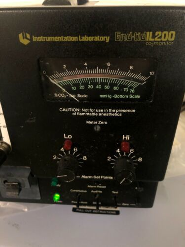 INSTRUMENTATION LABORARATORY END-TID IL200 CO2 MONITOR 02000