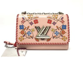 100% AUTH Louis Vuitton PINK FLOWER PRINT LIMITED EPI TWIST PM Leather Bag image 1