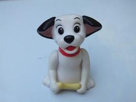 Vintage Disney 101 Dalmatians Puppy Dog Red Collar With Bone 2 Inch Figu... - $6.78