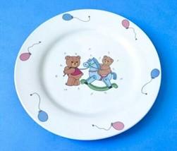 Studio Nova Beary Life Plate MZ494 Child's Ceramic Dish Teddy Bear Ballo... - $9.89