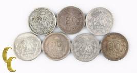 1906-1910 Mexico 20 Centavos Lot (VF-XF, 7 coins) Silver 20c Viente KM-435 - $75.74