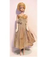 Vintage Blonde Bubble Cut Mattel BARBIE Doll 1958 1962 Gloves no green - $499.00
