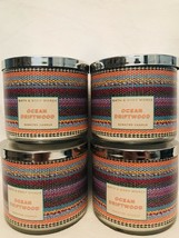 4 Bath Body Works Large 3-Wick Candle Ocean Driftwood - $79.15