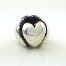 Authentic Trollbeads Hearts Big Sterling Silver Charm 11224, New - $20.37