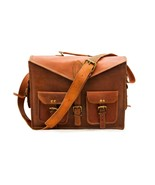 New 100% Pure Laptop Shoulder Vintage Leather Office Cross Body Messenge... - $67.96