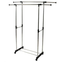 Washing Line Clothes Laundry Organizer Drying Rack Dryer Hanger Free Sta... - $19.79