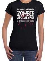 075 Zombie Apacolypse women's T-shirt walking scary dead new dixon grimes cool - $15.00+