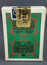 Vintage Golden Nugget Playing Cards Used and Sealed Undrilled? Green w/G... - $44.10