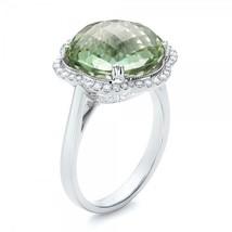 Solid 18k White Gold Anniversary Ring Gift Valentine Gift Womens Wedding Jewelry - $769.99